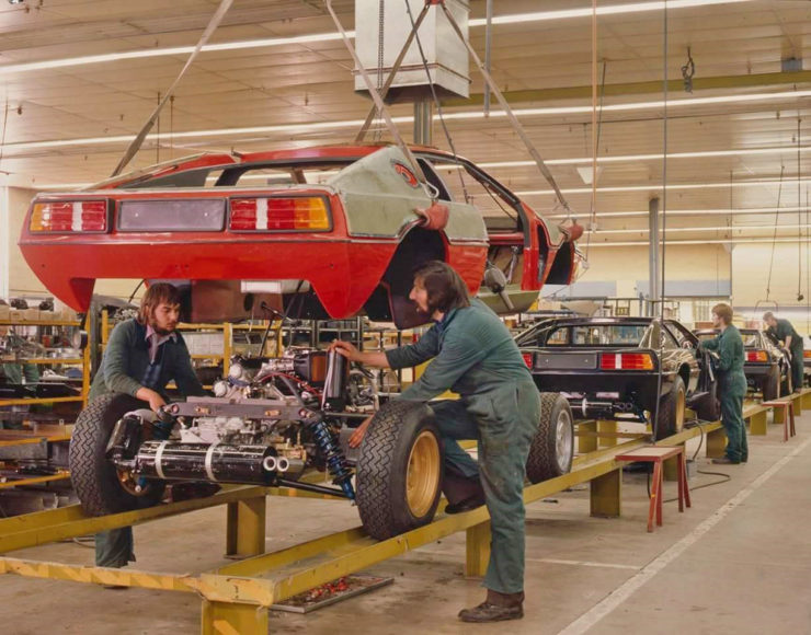 Lotus Esprit factory assembly