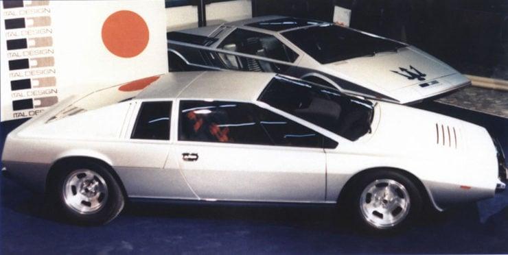 Lotus Esprit concept car Maserati Boomerang Ital Design Giorgetto Giugiaro