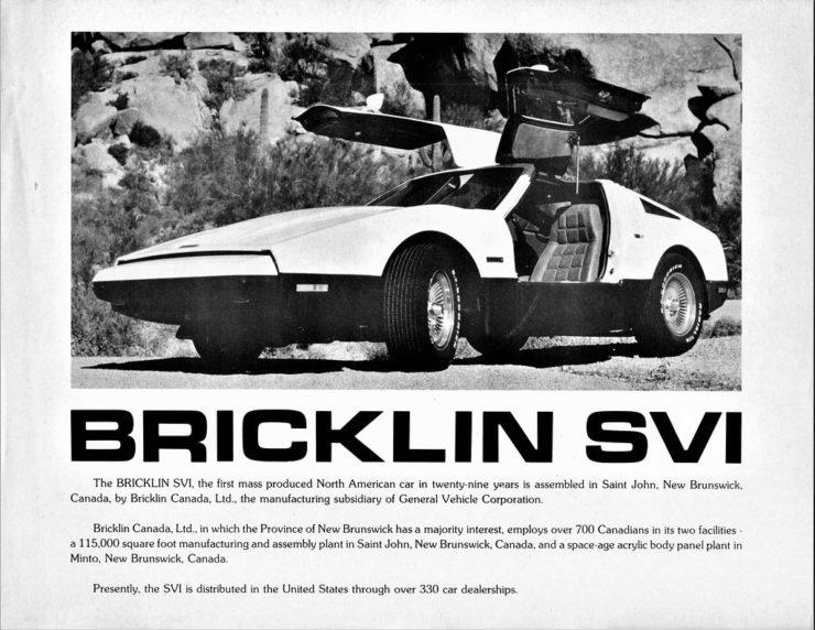 Bricklin SV-1 Ad