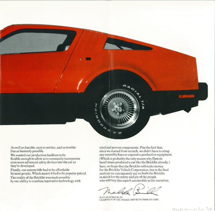 Bricklin SV-1 Back