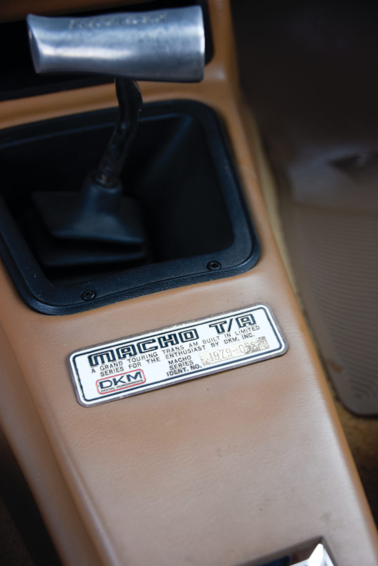DKM Pontiac Macho Trans Am T/A Plate