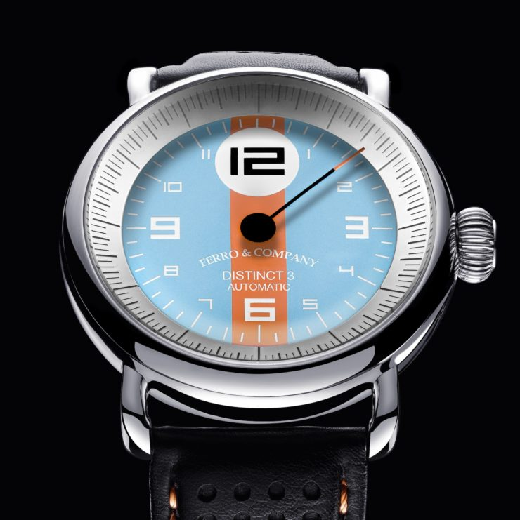 Ferro & Co. Distinct III Vintage Racing Watch Le Mans Gulf