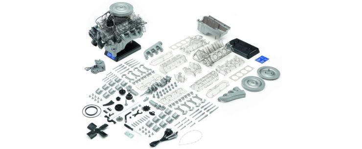 Ford 1965 Mustang V8 Engine Model Kit