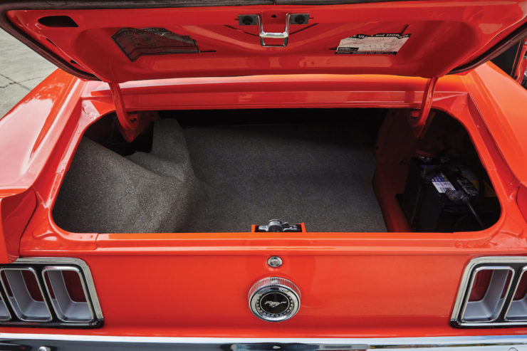 Ford Mustang Trunk Space