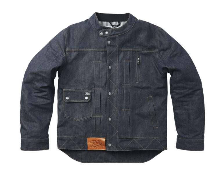 The New Fuel Greasy Jacket - An Armored Aramid + Denim Motorcycle Jacket