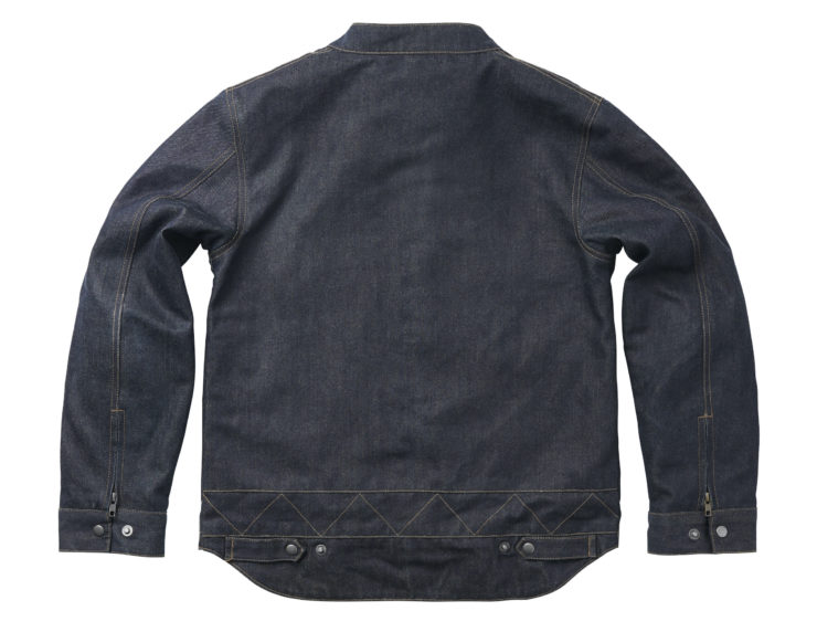 Fuel Greasy Denim Jacket Back
