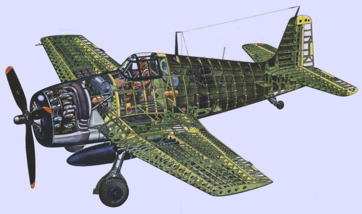 Grumman F6F Hellcat Cutaway