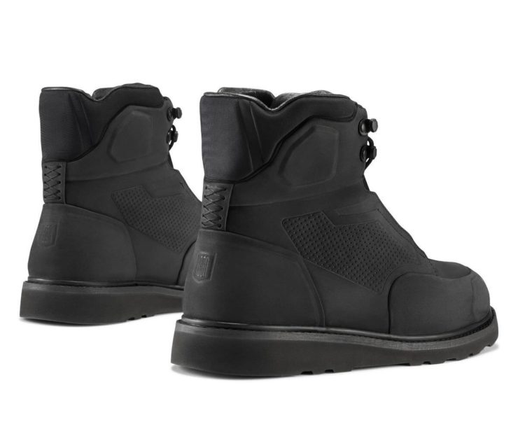 Icon 1000 Brigand Boots Black Rear