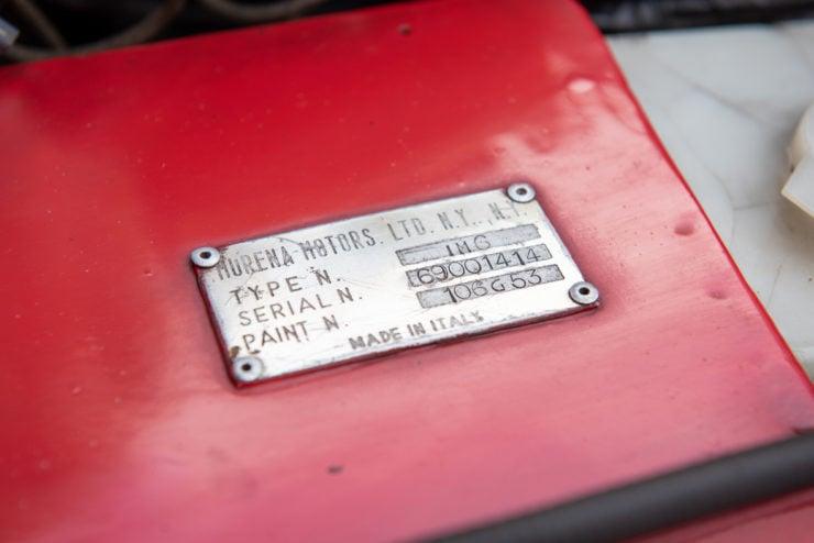 Intermeccanica Murena 429 GT VIN Plate