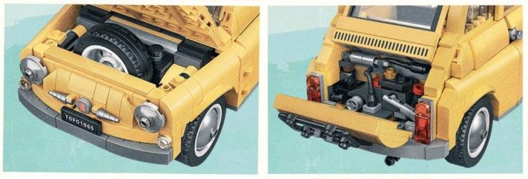 Lego Fiat 500 Details