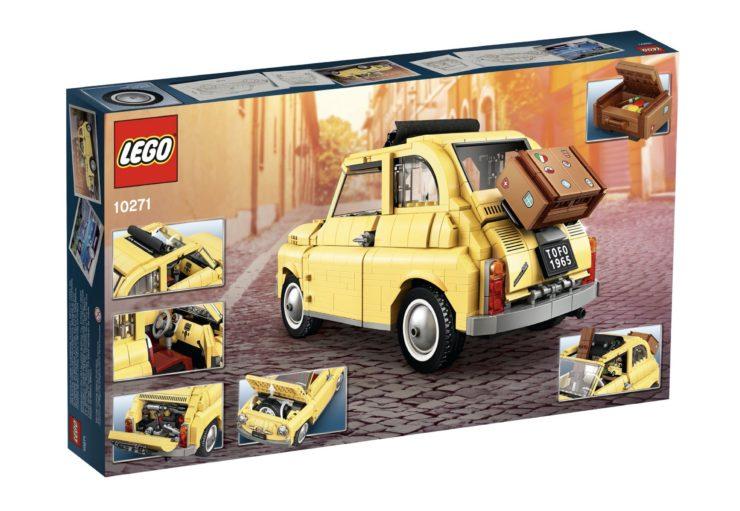 Lego Fiat 500 In Box Back