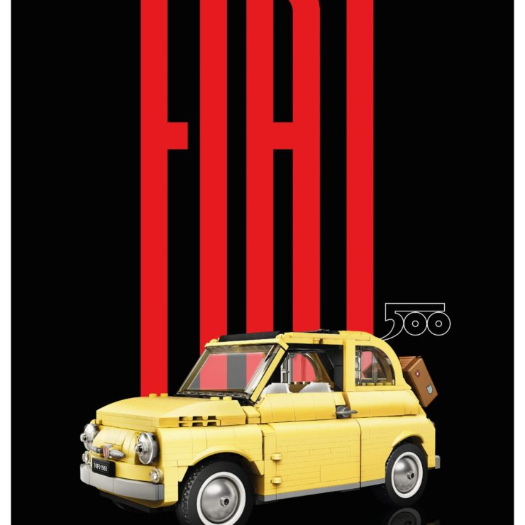 Lego Fiat 500 Poster 1