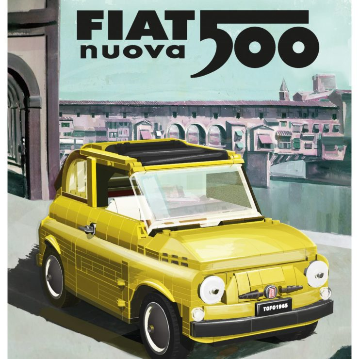 Lego Fiat 500 Poster 2