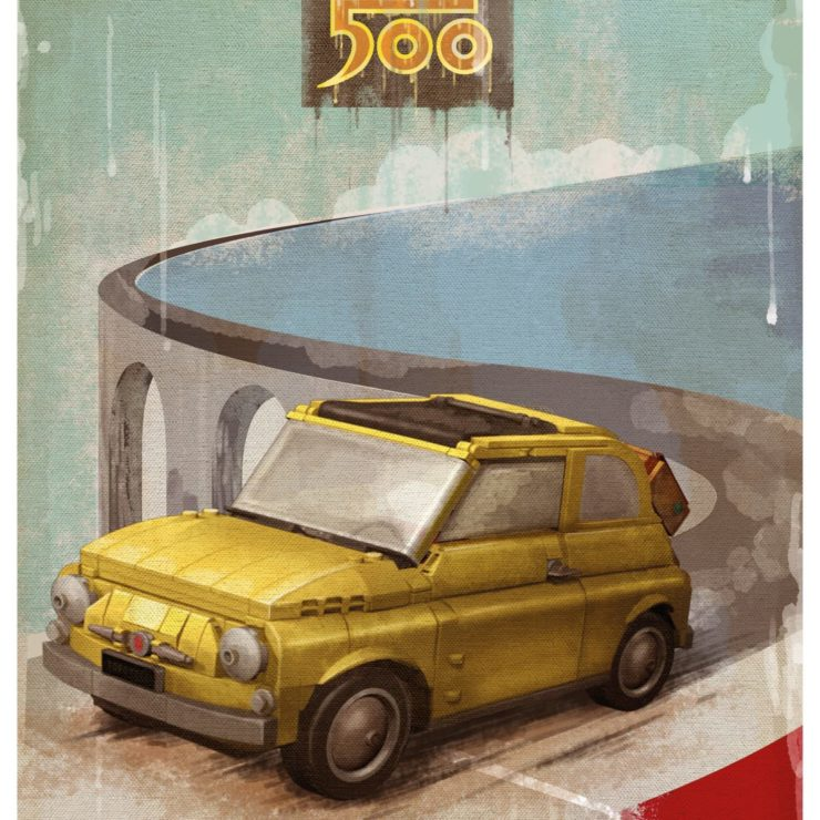 Lego Fiat 500 Poster 3
