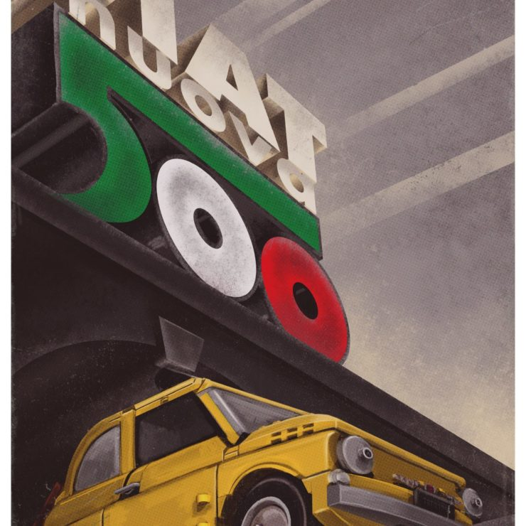 Lego Fiat 500 Poster 4