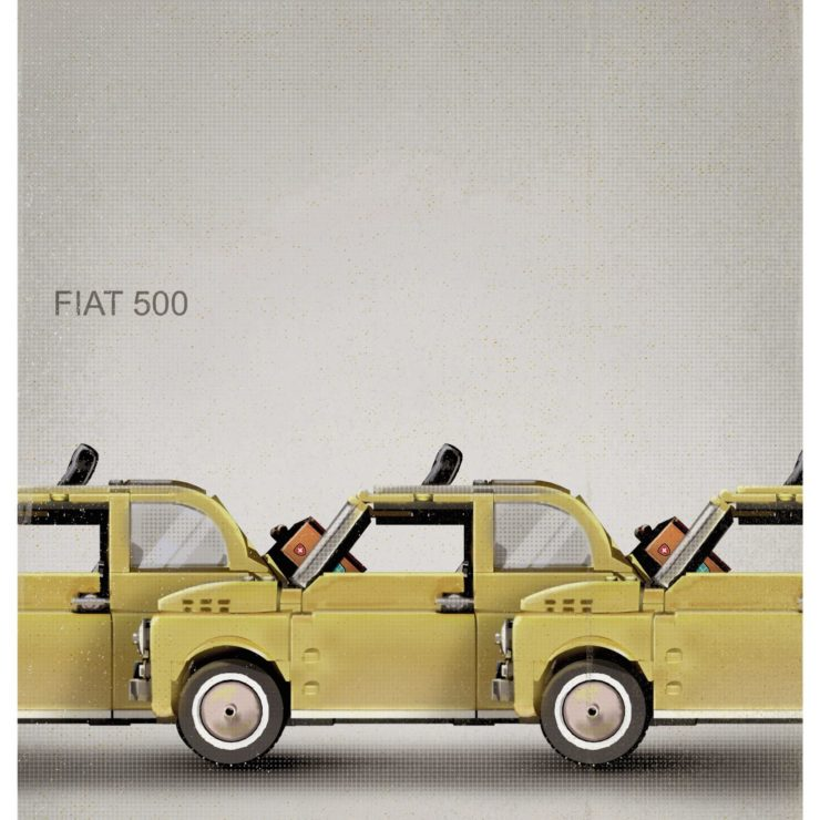 Lego Fiat 500 Poster 5