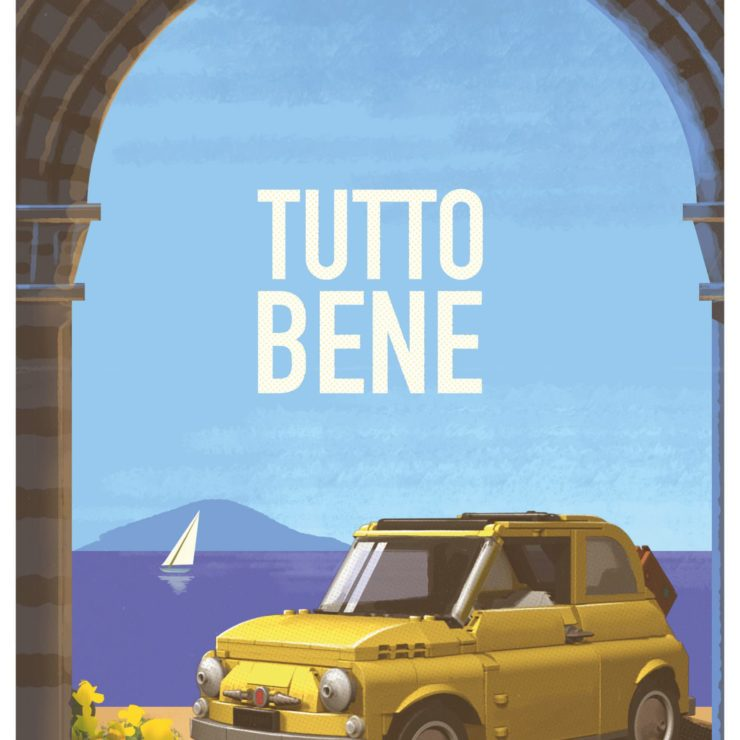 Lego Fiat 500 Poster 6