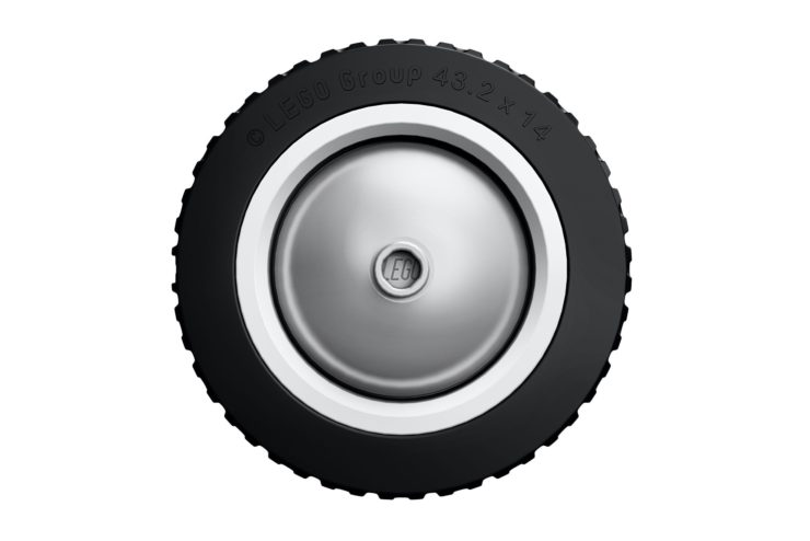 Lego Fiat 500 Tire and Wheel