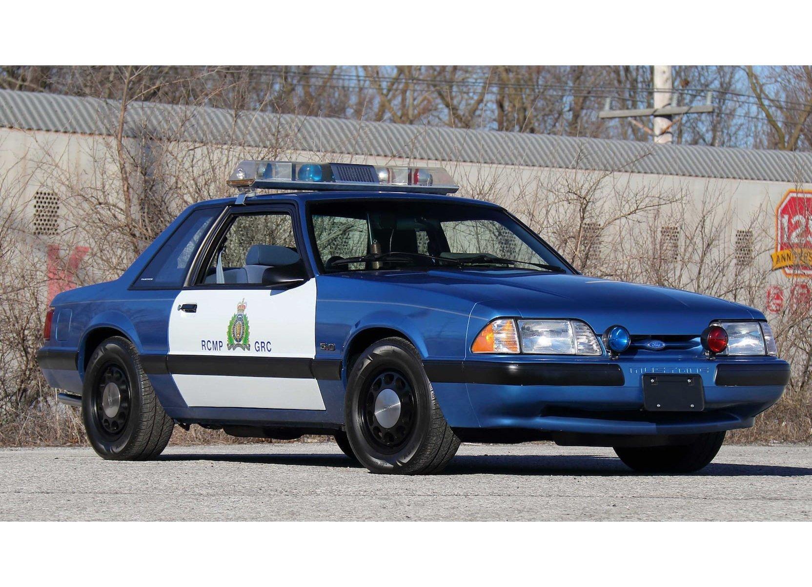 Royal Canadian Mounted Police Ford Mustang Patrol Car