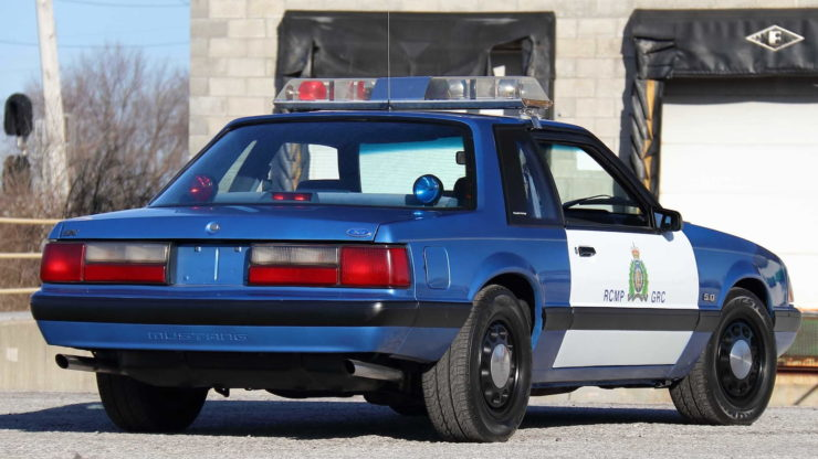 Royal Canadian Mounted Police Ford Mustang SSP Patrol Car Back 3