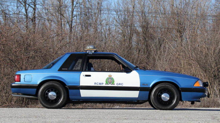 Royal Canadian Mounted Police Ford Mustang SSP Patrol Car Side 2