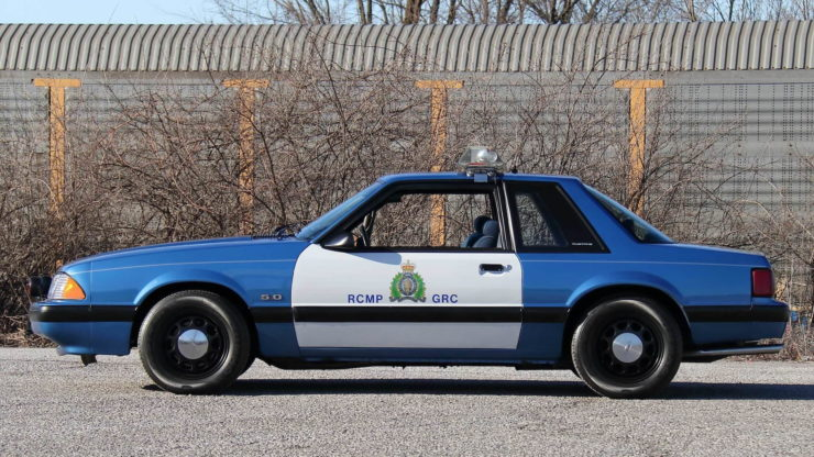 Royal Canadian Mounted Police Ford Mustang SSP Patrol Car Side