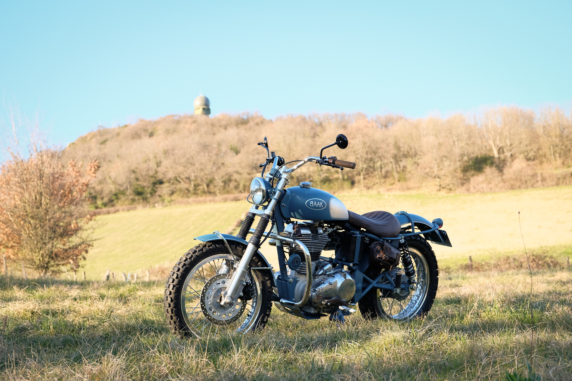 A Beautiful Royal Enfield Classic 500 Scrambler By Baak