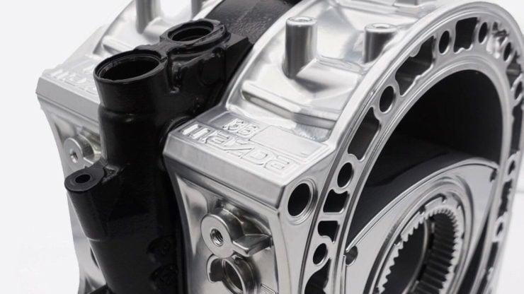 Wankel Rotary Engine Coffee Table Detail