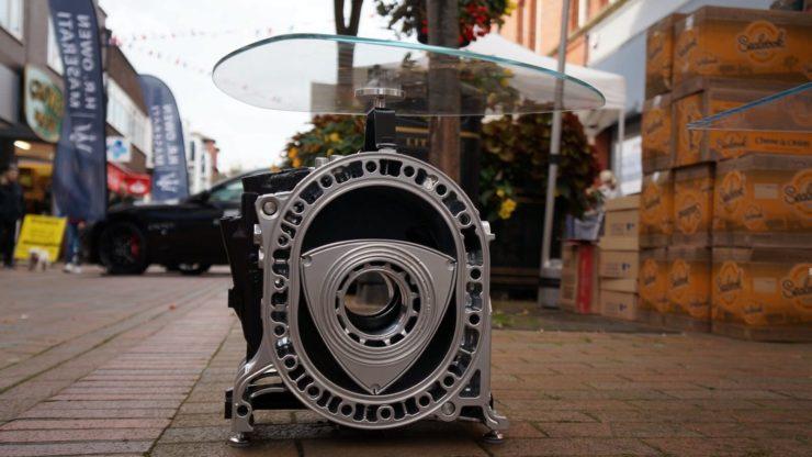 Wankel Rotary Engine Coffee Table Outside