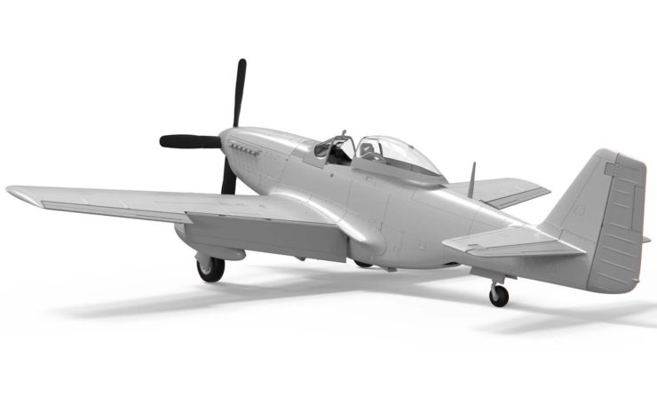 Airfix North American P51-D Mustang No Paint Back