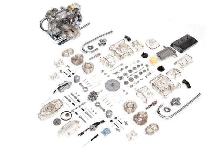 BMW R90S Flat Twin Airhead Engine Model Kit