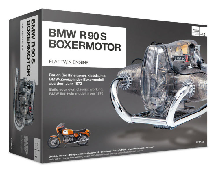 BMW R90S Flat Twin Airhead Engine Model Kit Box