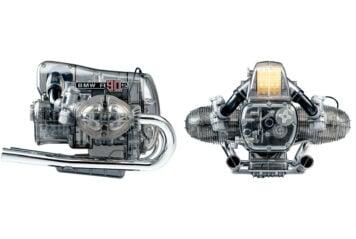 BMW R90S Flat Twin Airhead Engine Model Kit Side