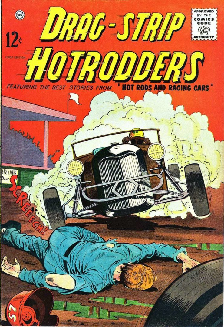 Drag Strip Hotrodders Comic Book