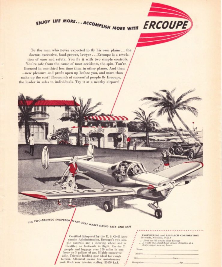 Ercoupe Plane Ad 3