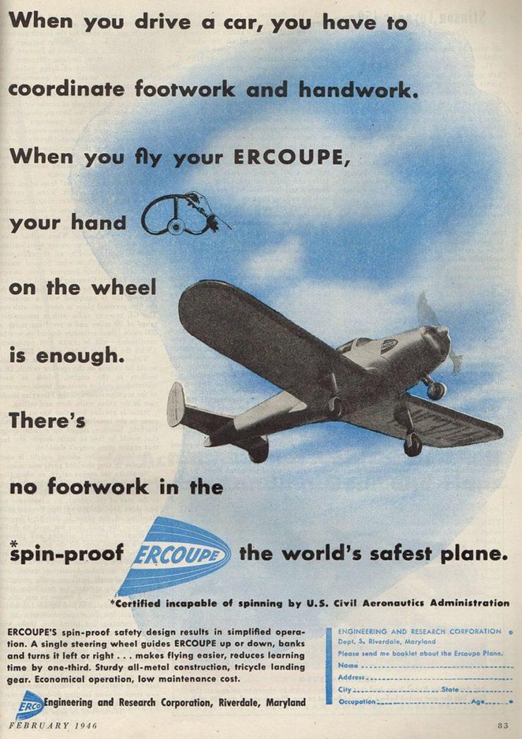 Ercoupe Plane Ad
