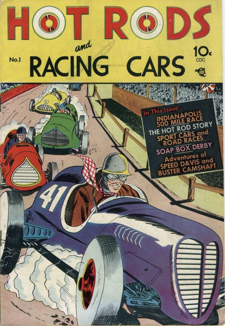 Hot Rods And Racing Cars Comic Book