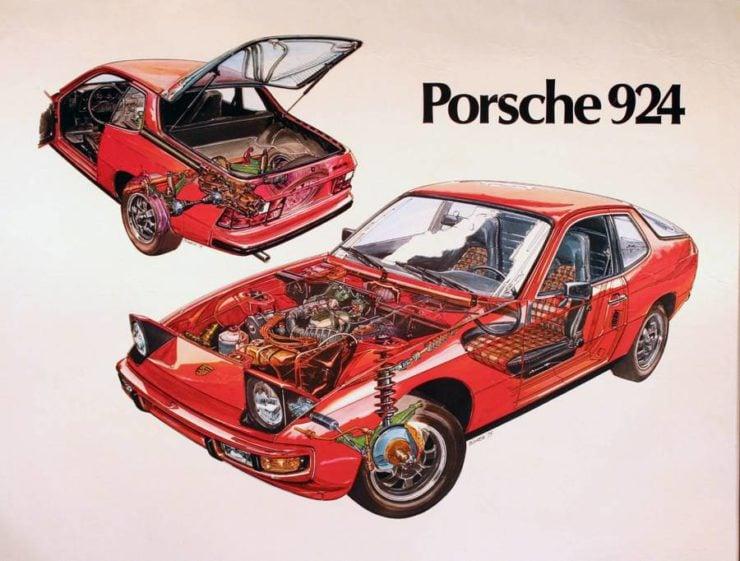Porsche 924 Cutaway