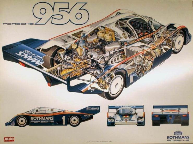 Porsche 956 Cutaway