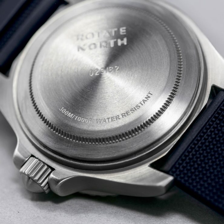 Rotate North Atlantic Automatic Dive Watch Back 2