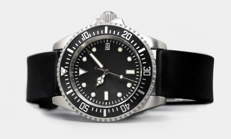 Rotate North Atlantic Automatic Dive Watch Black