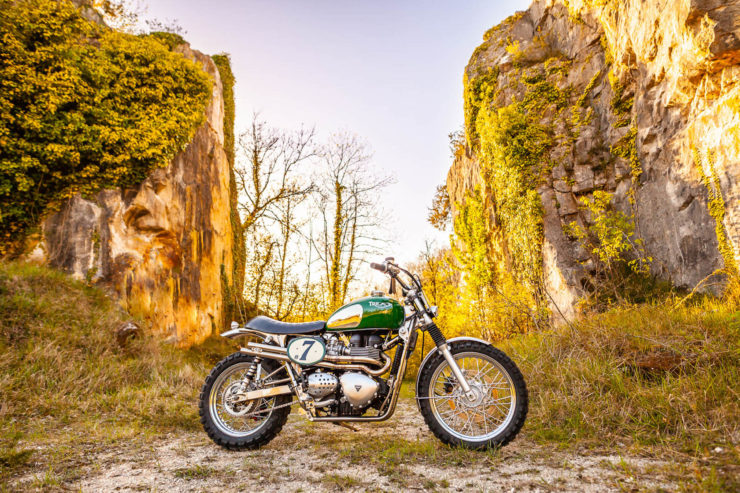 Triumph Scrambler Custom Green Legend 1