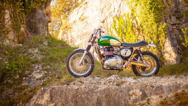 Triumph Scrambler Custom Green Legend 10