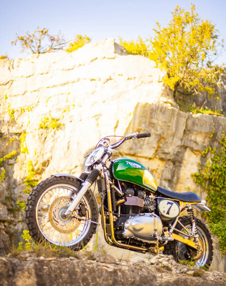 Triumph Scrambler Custom Green Legend 11