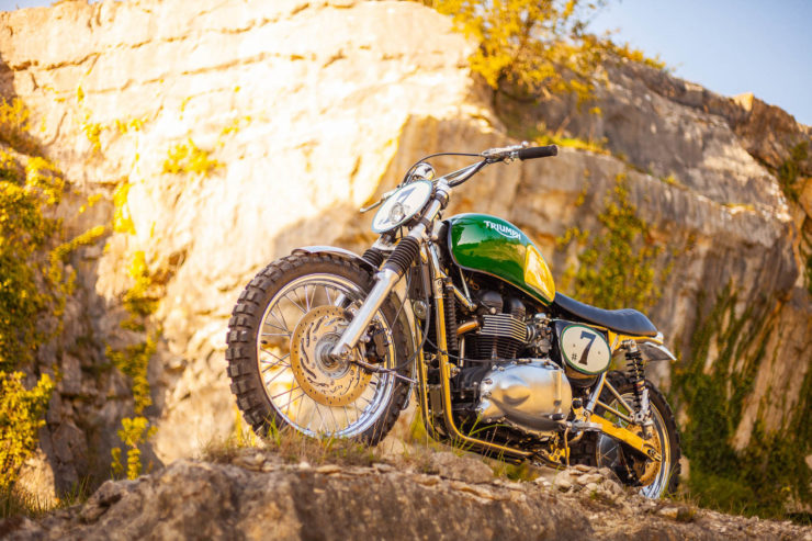 Triumph Scrambler Custom Green Legend 12
