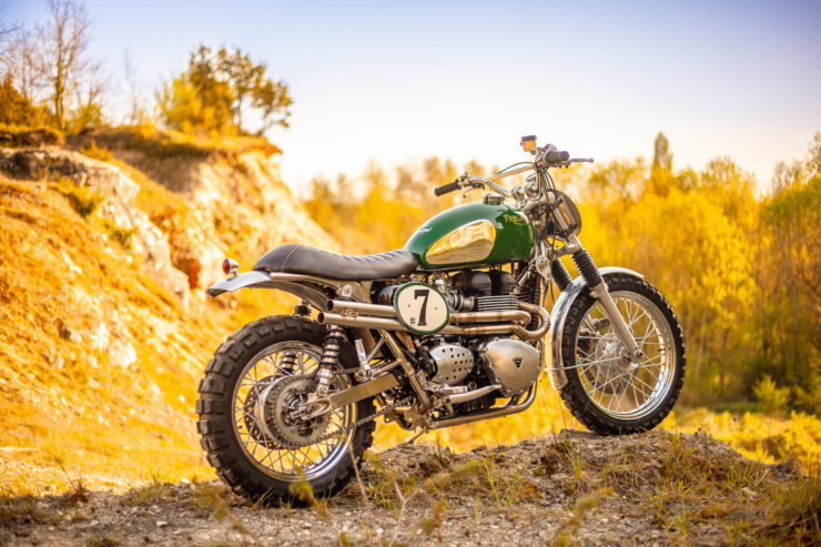 Triumph Scrambler Custom Green Legend 13