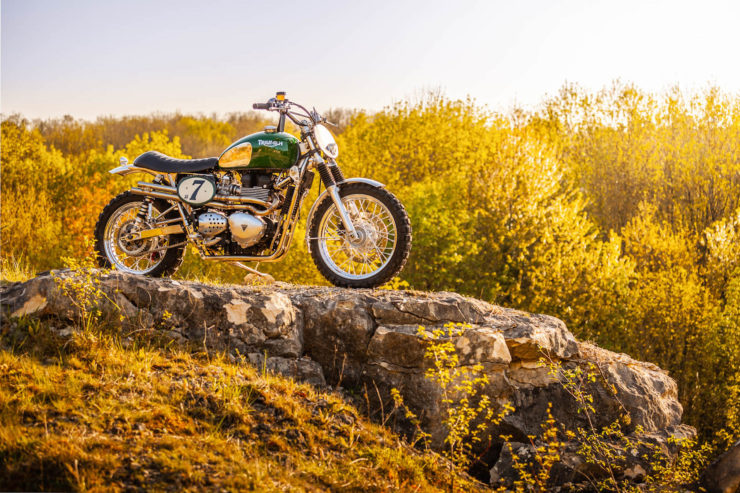 Triumph Scrambler Custom Green Legend 2