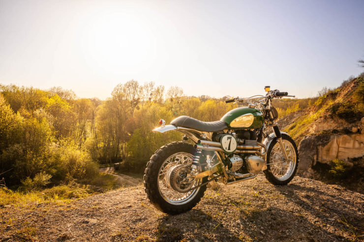 Triumph Scrambler Custom Green Legend 6