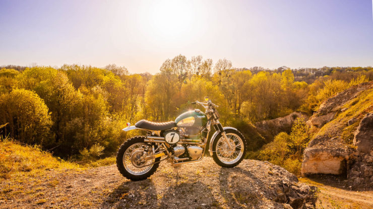 Triumph Scrambler Custom Green Legend 7