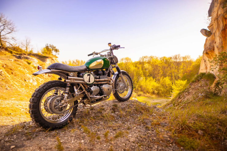 Triumph Scrambler Custom Green Legend 8